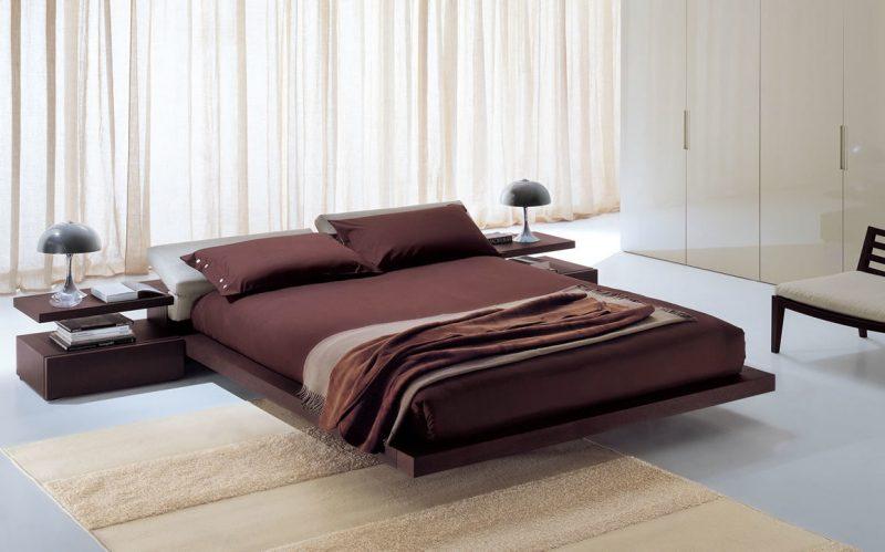 Bett ohne Kopfteil Design
