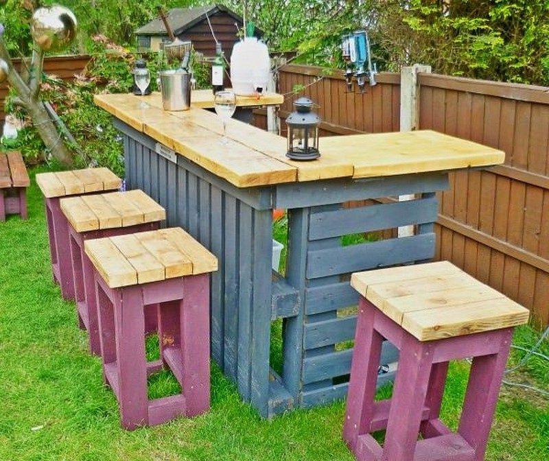 Design Gartenmöbel: DIY Idee aus Paletten
