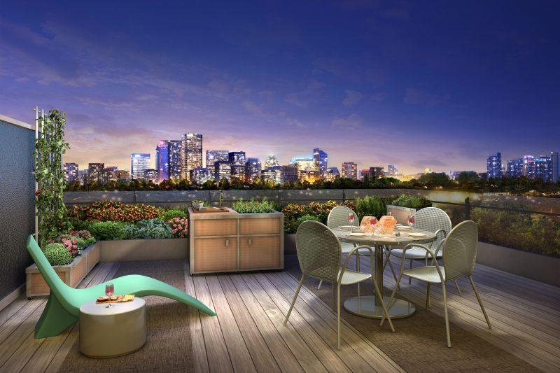Design Gartenmöbel für eine große Terrasse
