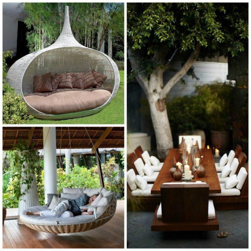 Kreative Ideen für Design Gartenmöbel