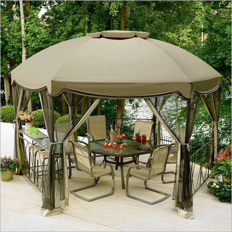 Design Gartenmöbel mit Sonnenschutz