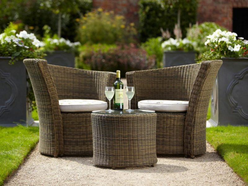 Modern Design Gartenmöbel aus Rattan