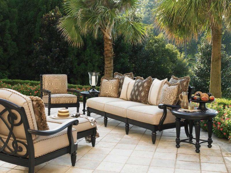 Design Gartenmöbel mit rustikalem Look