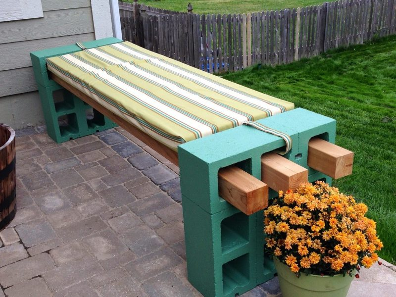 Design Gartenmöbel: Selbstgemachter Sitzbank