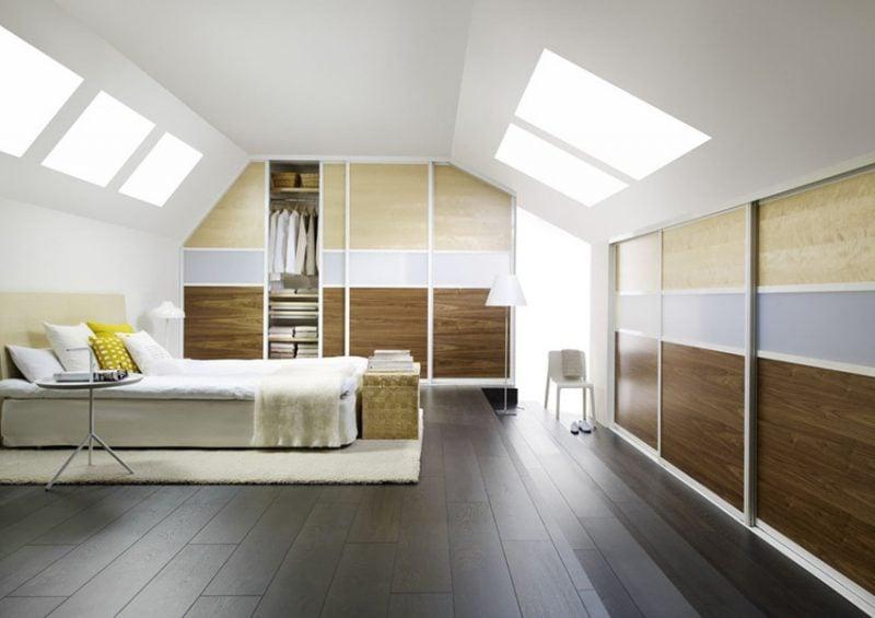Einbauschrank Dachschraege Schlafzimmer