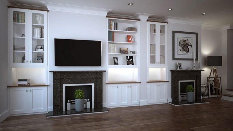 Einbauschrank TV Wand