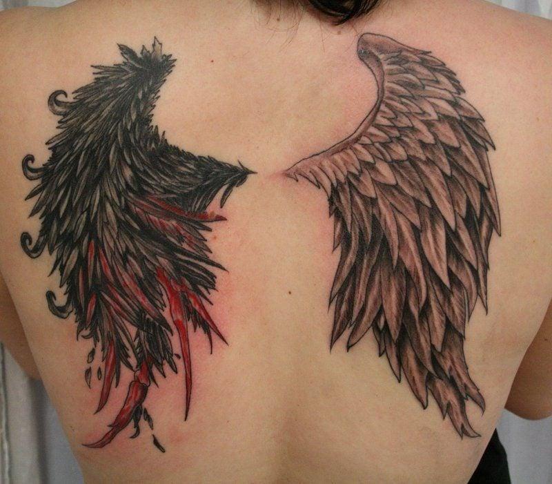 Engelsflügel Vorlagen - Engel und Demon