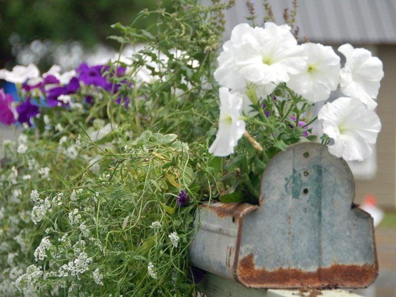 Gartendeko Rost Briefkasten