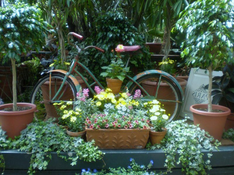 Gartendeko Rost Fahrrad