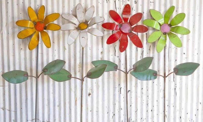Gartendeko Rost farbig