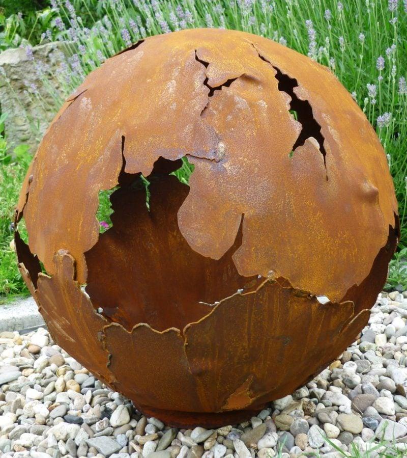 Gartendeko Rost Globus