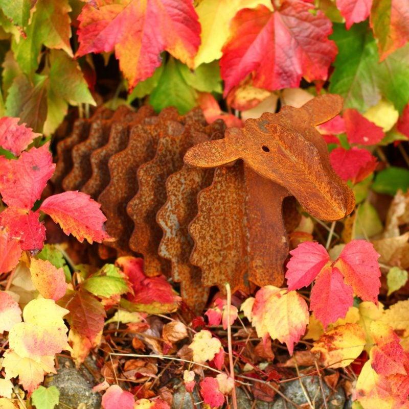 Gartendeko Rost Herbstdeko