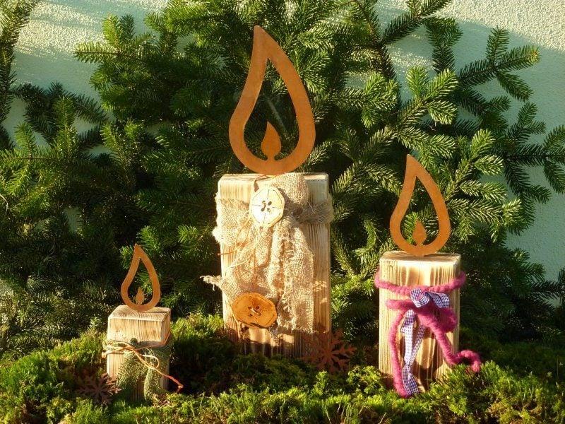 46 ideen f r gartendeko rost da die natur am besten for Gartendeko kerzen