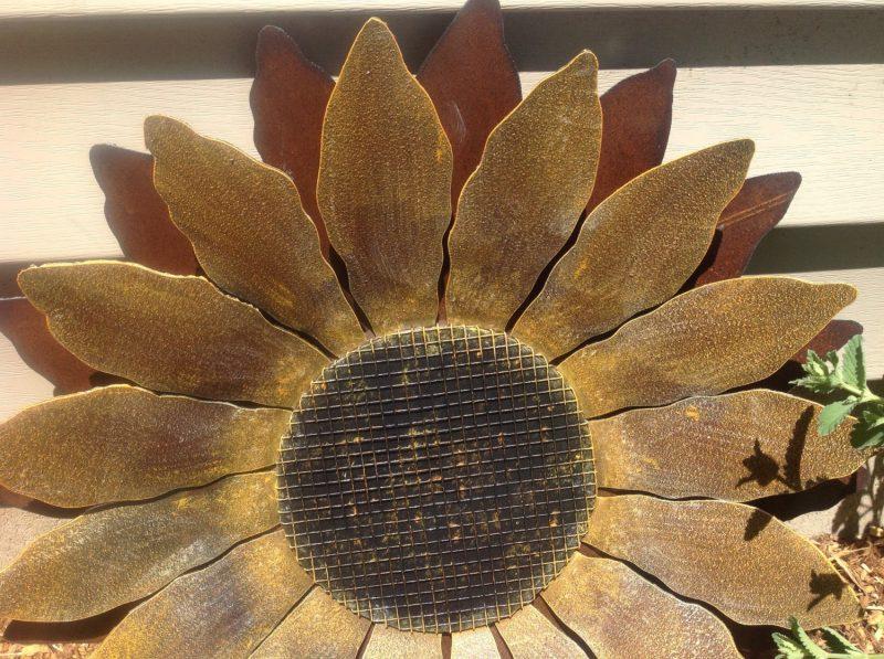 Gartendeko Rost Sonnenblumen