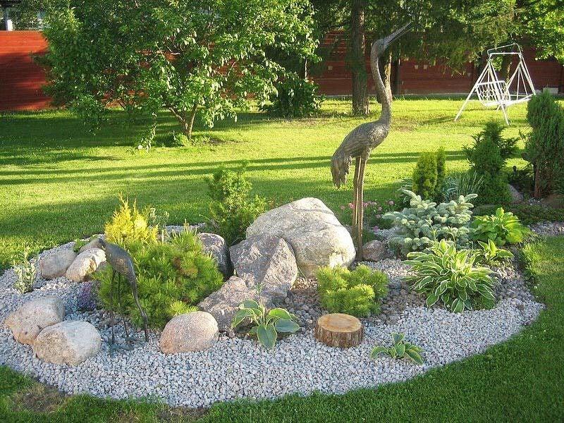 Gartengestaltung mit Steinen, damit Sie Akzente einsetzen