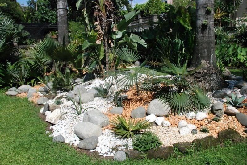 Mit Gartengestaltung mit Steinen werden Sie exotischen Flair Ihrem Garten verleihen