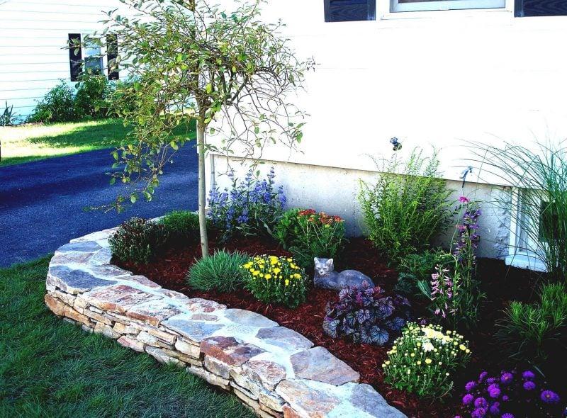 Gartengestaltung mit Steinen: die passenden Blumenarten