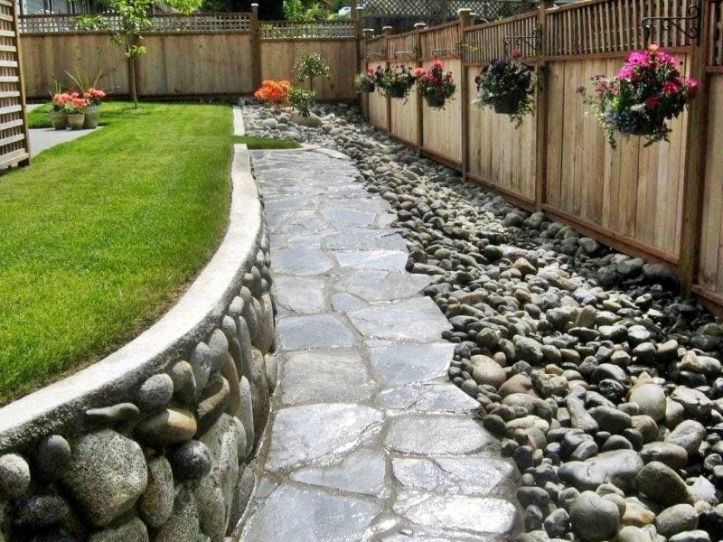 Gartengestaltung mit Steinen für Gartenweg