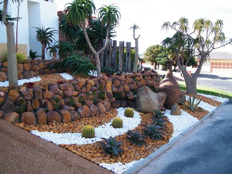 Gartengestaltung mit Steinen: Spielen Sie mit den Farben