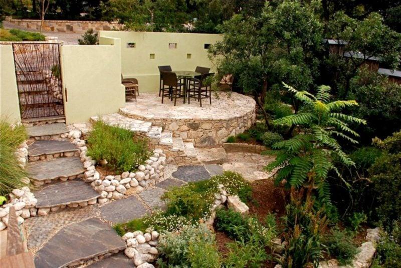Ideen für Gartengestaltung mit Steinen: Erholungsbereich