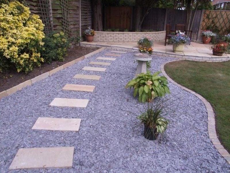 Ideen Für Gartengestaltung Mit Steinen Für Den Gartenweg