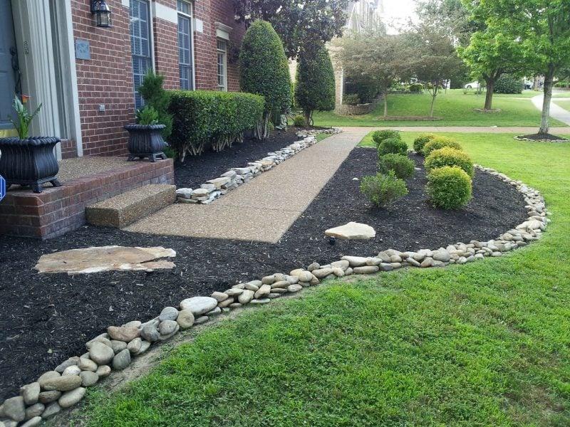 ideen fr gartengestaltung mit steinen vorgarten - Gartengestaltung Mit Steinen Und Grasern