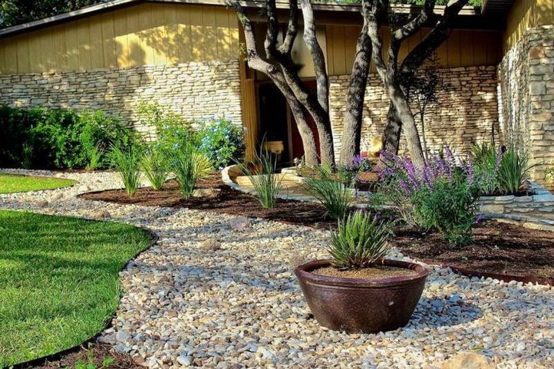 gartengestaltung mit steinen und gräsern: gräser garten nach der, Garten Ideen