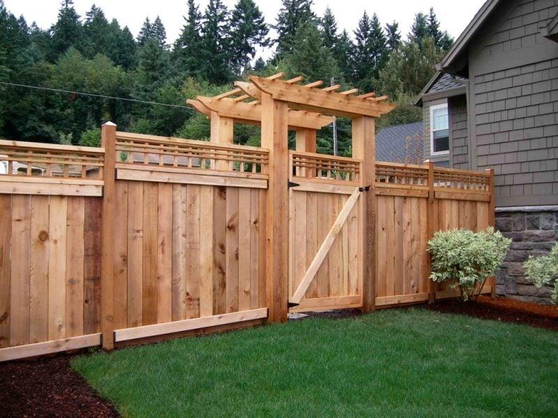 Aus Holz Gartentor selber bauen