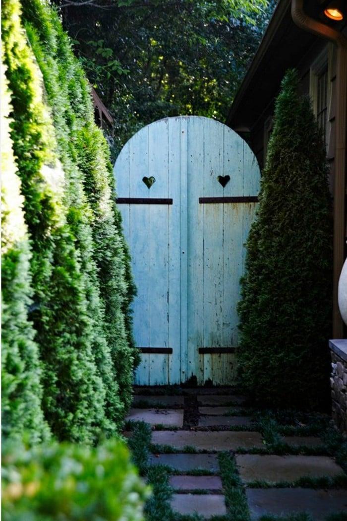Gartentor selber bauen Idee