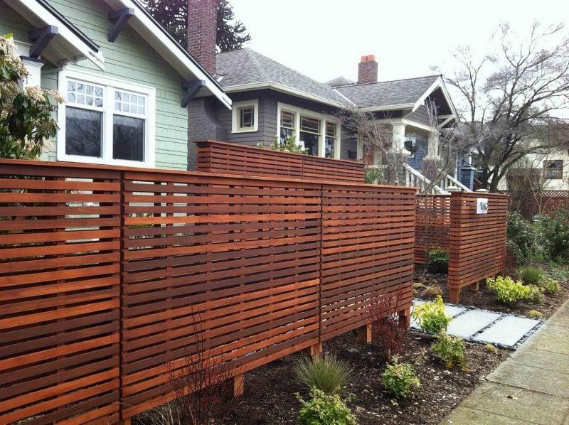 Modern Gartentor selber bauen