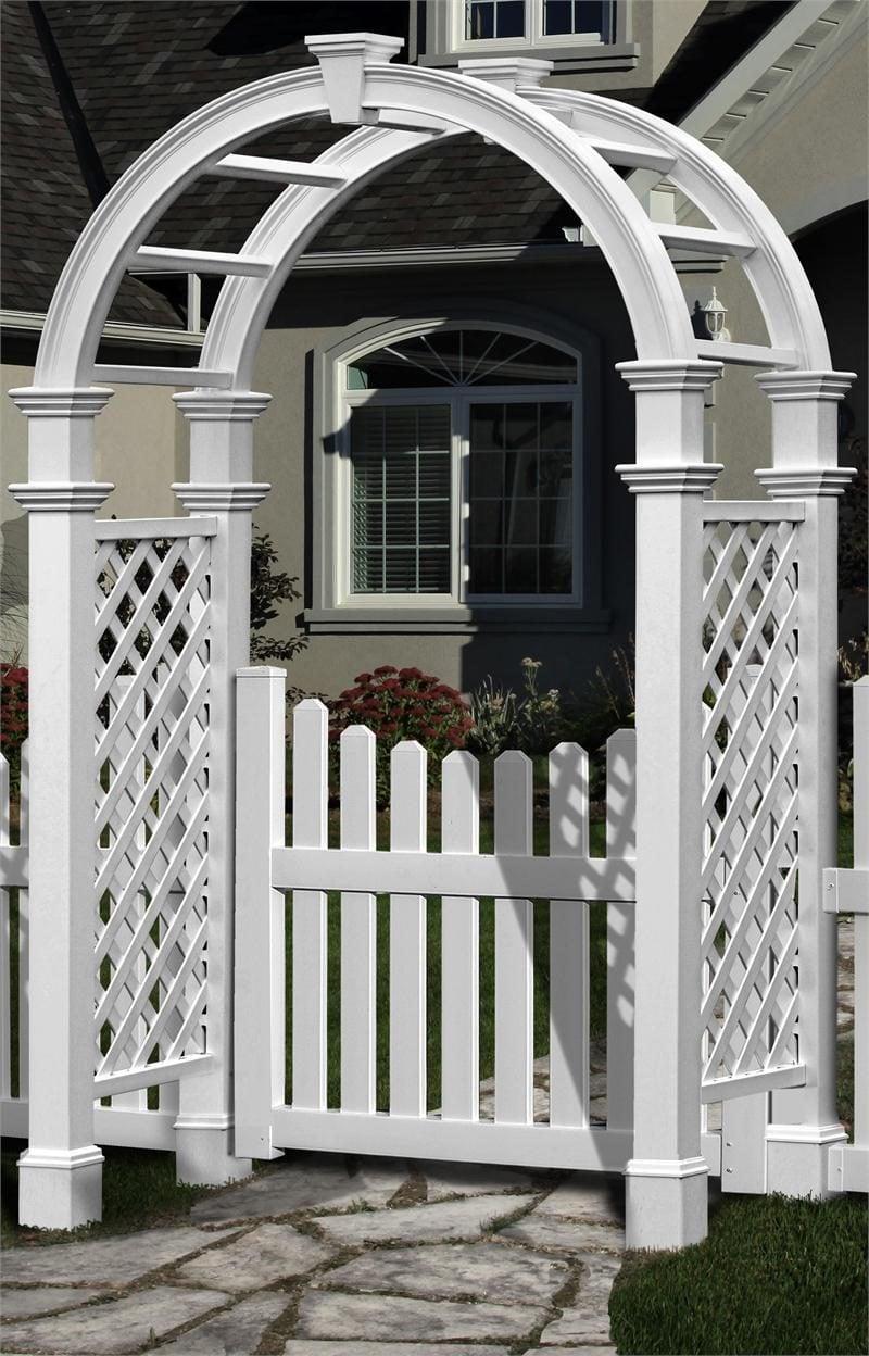 Gartentor selber bauen : Weiße Farbe gibt eine charmante Ausstrahlung
