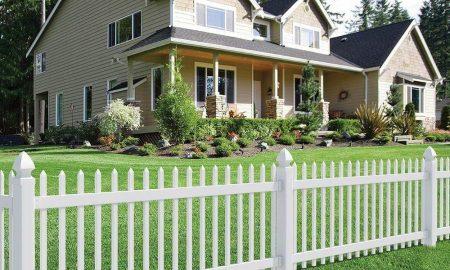 Gartenzaun aus Kunststoff