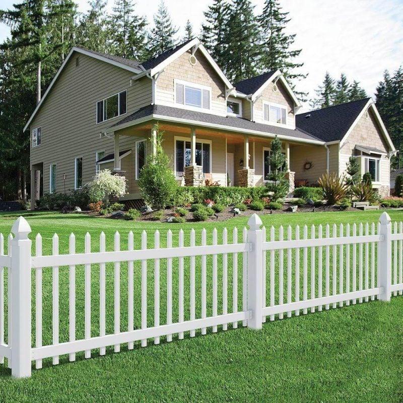 Gartenzaun aus Kunststoff PVC