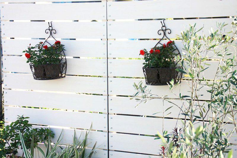 Gartenzaun aus Kunststoff Design