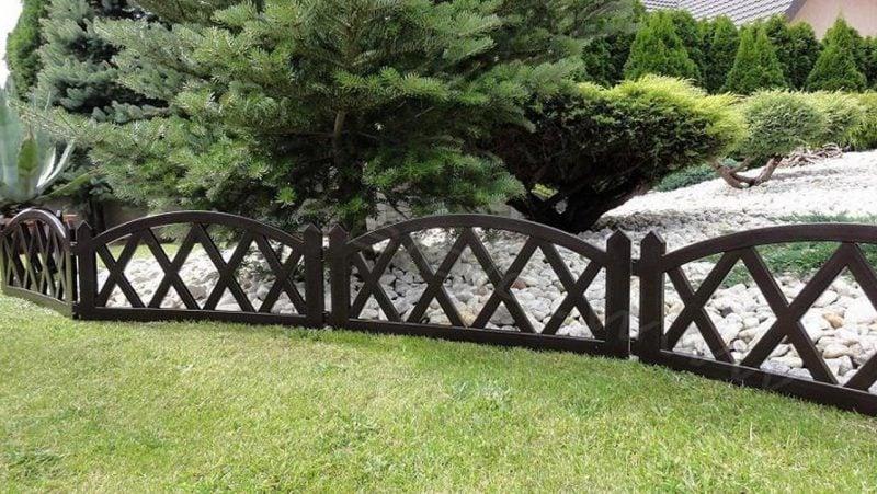 Gartenzaun aus Kunststoff dunkelbraun