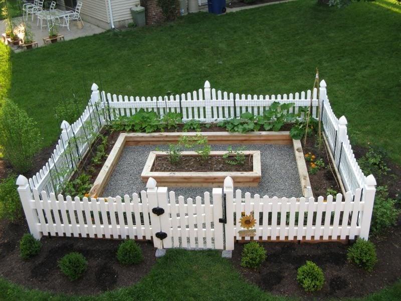 Gartenzaun aus Kunststoff Idee