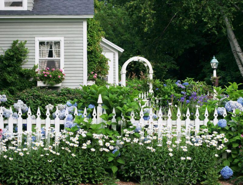 Gartenzaun aus Kunststoff kreatives Design