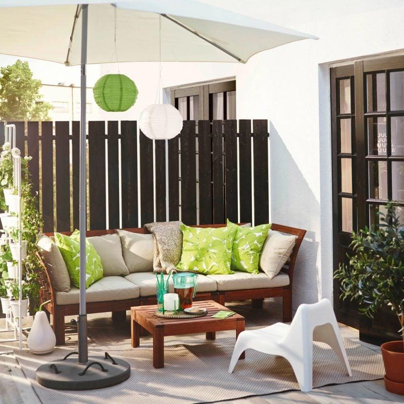 Gartenzaun aus Kunststoff eignet sich auch für Terrasse