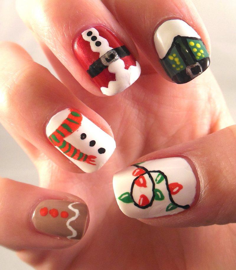 Gelnägel Muster Weihnachten