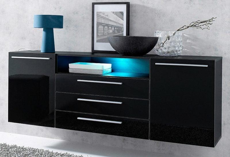 Sideboard hängend schwarz  Sideboard hängend: 25 trendige Designideen für Ihre Wohnung