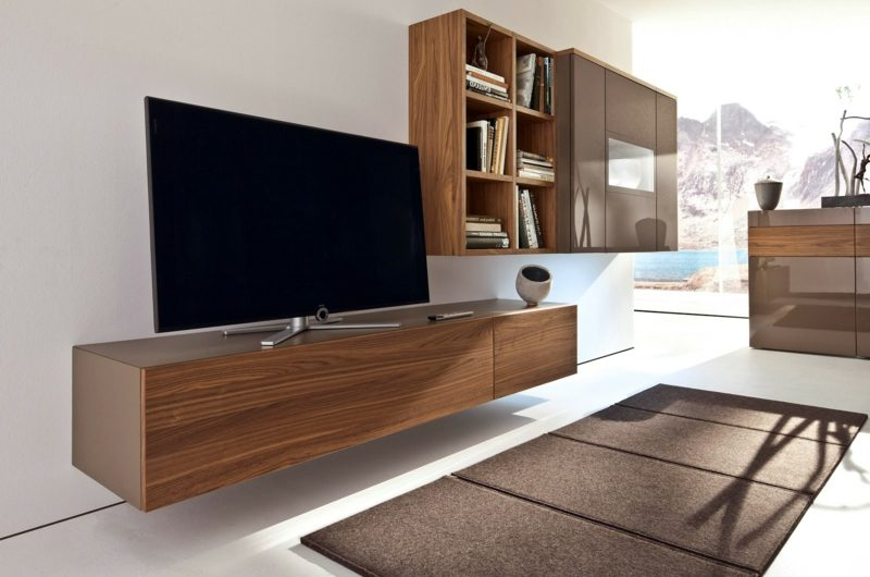 lowboard h ngend holz. Black Bedroom Furniture Sets. Home Design Ideas