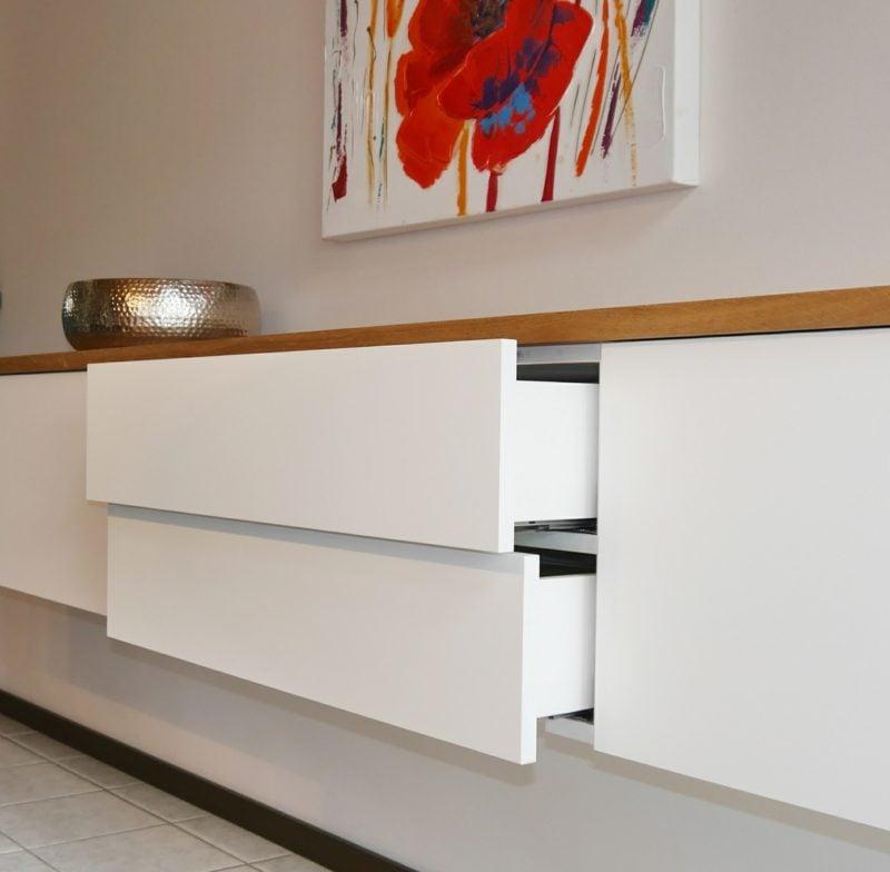 Sideboard hängend modern Schubladen