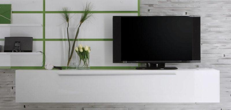 Sideboard hängend originelle Variante im Weiss
