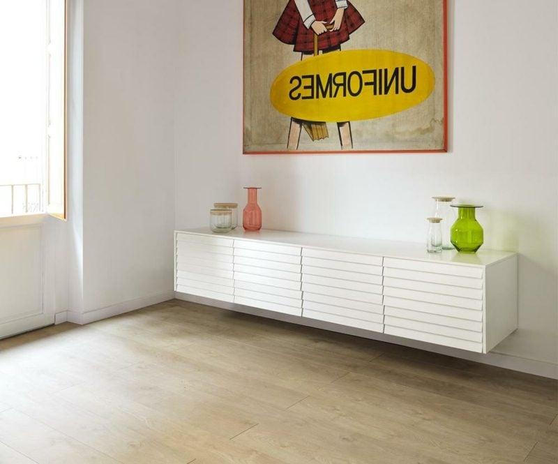 Sideboard hängend weiss mehrere Schubladen
