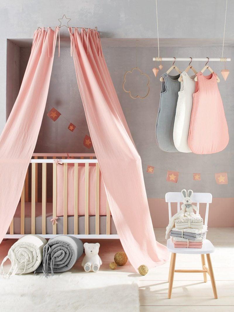 Himmelbett Vorhang Babyzimmer