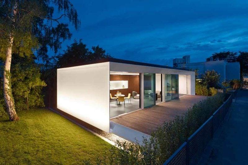 Intelligentes Wohnen Beispiel für Exterior eines Smart Hauses