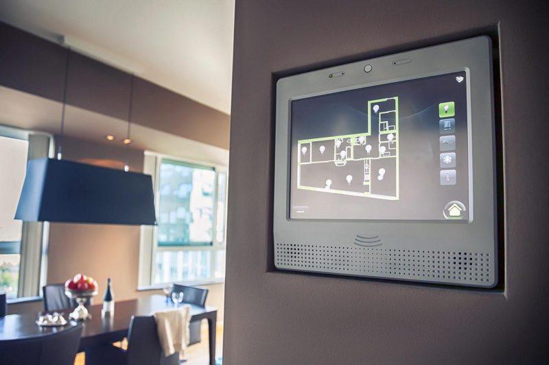 Intelligentes Wohnen Smart System kontrolliert die Beleuchtung