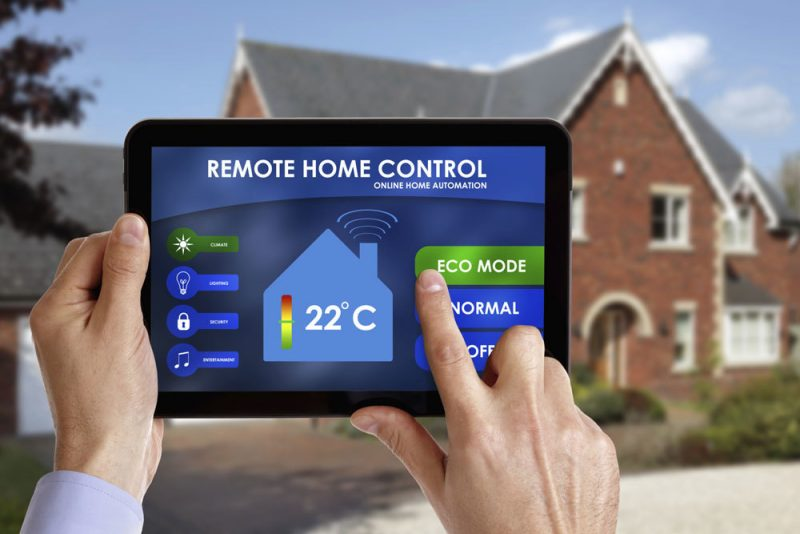 Intelligentes Wohnen kontrollieren Sie auch durch Smartphone