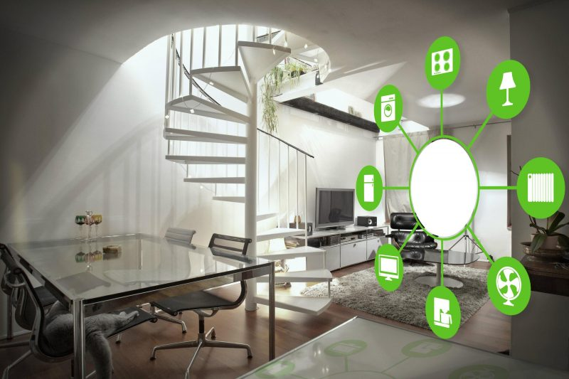 Intelligentes Wohnen - Vernetzung durch Heizung, Beleuchtung, Elektrogeräte usw