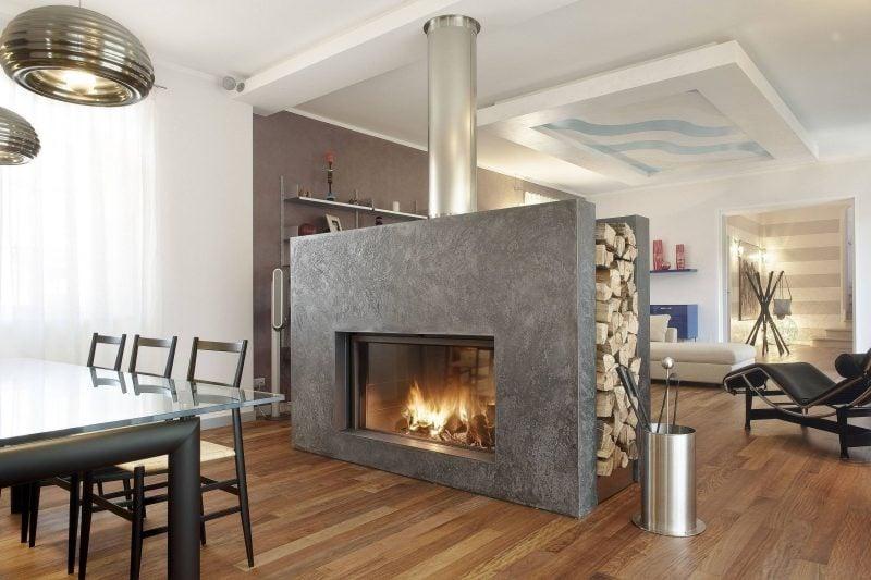 Kaminverkleidung modern Design mit Granit